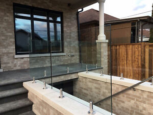 Glass Railing. Interior and Exterior