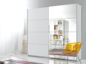 Gigantic Victor Sliding Wardrobe in Black and White **Quick Delivery**