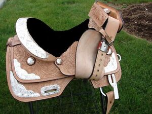 "12"" 13""  Kids Western Pony Leather Youth Saddle Silver Show New London Ontario image 5"
