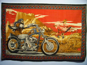 "RARE DAVID MANN ""GHOST RIDER"" TAPESTRY***FIRST $400 GETS IT***"