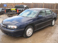 2002 CHEVROLET IMPALA FOR PARTS AT PIC N SAVE WOODSTOCK!!!!!!!!!