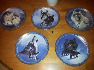 5 Dominion China Spirit of the Wilderness plates by Eddie LePage