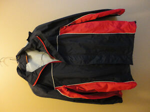Kid's unisex navy blue/red jacket with hoodie Size Large NEW London Ontario image 1