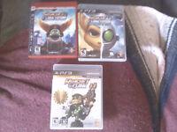 Lot de 5 jeux Ratchet et Clank  pour playstation 3  30$ pour tou