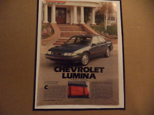 OLD CHEVY CLASSIC CAR FRAMED AD Windsor Region Ontario image 5