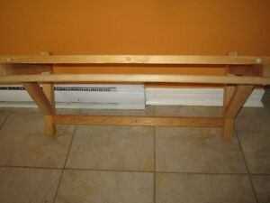 Tablette de bois avec crochets Gatineau Ottawa / Gatineau Area image 2