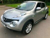 2012 Silver Nissan Juke Tekna AUTOMATIC CVT Stunning Low Mileage FSH Cheap Car