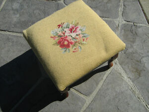 Quaint Embroderied Foot Stool