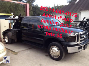 $$SCRAP CARS WANTED$$514-641-0172