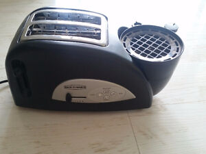 Toaster, egg cooker and meat warmer combo