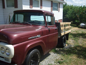 Well Maintained 1960 Alberta Farm Truck with Flat deck