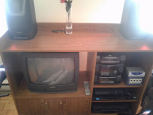 TV, STEREO WITH SPEAKERS, DVD and VCR For Sale