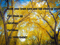 Fall Aeration and clean up