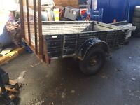 Metal trailer with ramp and NEW Good year tires
