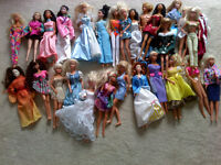 Collection of 28 Barbie Dolls