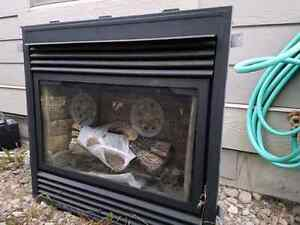 Natural gas fire place