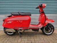 ROYAL ALLOY GP300 RED METAL BODY BRAND NEW CLASSIC RETRO STYLE SCOOTER