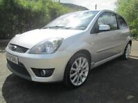 08/08 FORD FIESTA ST 2.0 3DR HATCH IN MET SILVER WITH HALF LEATHER INTERIOR