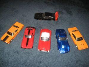 1:24 Die Cast Corvette, Plymouth, Dodge, Pontiac Jada Maisto