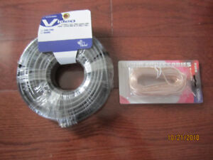 New 75 ft TV/Satellite/Antenna Cable + 50 ft Speaker Wire