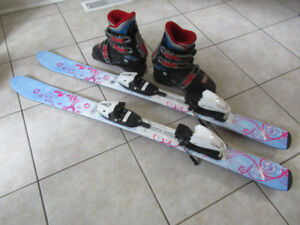 Kids Skis (105 cm) and Boots (23.5)