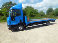 Iveco Eurocargo 20ft flat body 2011 1 company owner low miles