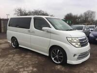 NISSAN ELGRAND 2005 3.5 RIDER PETROL-AUTOMATIC-LOW MILEAGE-FULL LEATHER SEATS