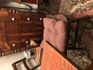 Antique mission dining table 500.00