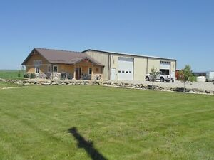 SHOP WITH ATTACHED HOUSE ON ACREAGE