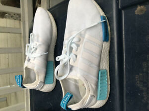 Blue and white adidas nmd. Men's size 8.5