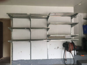Industrial wall mounted adjustable shelving - must go