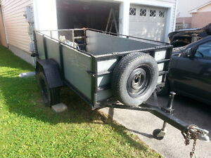 4x8 Utility Trailer with Drop down front and back gates