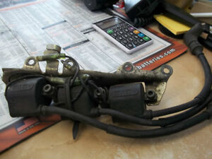 USED ignition coil set and bracket YAMAHA TRIPLES  $100.00