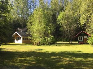 Dome Creek Mountain Riverfront Acreage with Cabins and Shops
