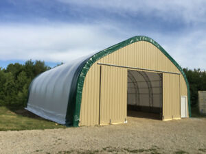 50'W x 100'L QUALITY Fabric Covered Buildings (INSTALLED)