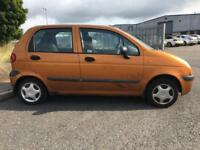 2001 DAEWOO MATIZ 0.8 SE 5 DR HATCHBACK MOT OCT LOW MILES