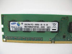 6go de Samsung 2GB DDR3 SDRAM Memory 240pin PC3-10600U 1333MHz