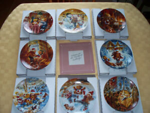"8 Bradford Exchange ""The Joys of Childhood Collection"" Plates"