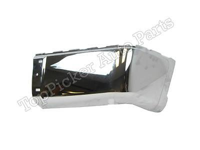 Rear Bumper Cap End Chrome RH For Chevy Silverado Sierra 2007 2013 WO Hole