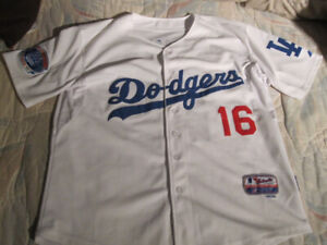 New Majestic MLB  Ethier LA Dodgers White Cool Base Jersey - LRG