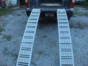 rampes de chargement pour vtt ou tracteur a gazon