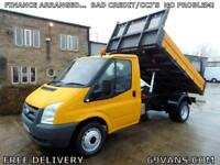 2006 56 FORD TRANSIT DROPSIDE TIPPER, 1 COUNCIL OWNER, TOW BAR, ONLY 75000 MILES