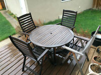 Hardwood Patio Dining Furniture Set
