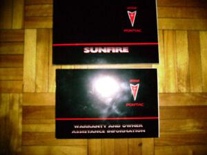 2002  PONTIAC SUNFIRE OWNER'S MANUAL &  WARRANTY INFORMATION .
