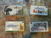 Final Fantasy 4, 5, & 6 as well as Crono Trigger for the Super F