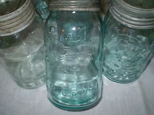 """""""Crown"""" Glass Jars---One Lot---A Lifetime Collection."""