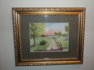 1/2 OFF   ~ VINTAGE WATER COLOUR PAINTING BY JENNETTE CONNERS  ~