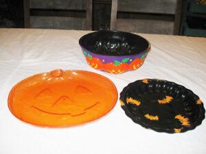 3 plats de service Halloween