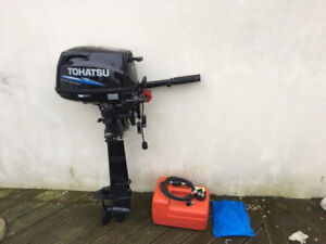 2017 Tohatsu 6HP short shaft outboard with hose & tank 4 stroke