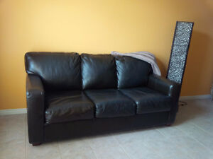 Couch and Chair - Bi-cast Leather Brown